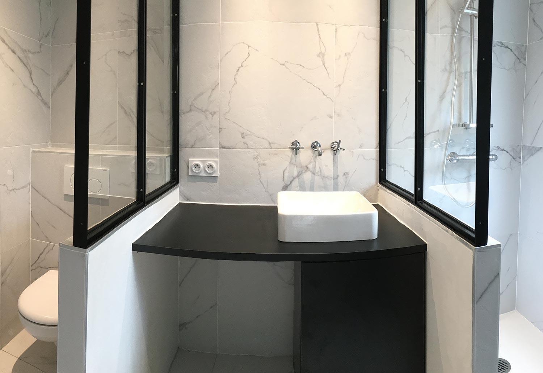 Cr ation salle de bain rennes r novation electricien plombier chauffagiste travaux cl en main - Creation salle de bain ...